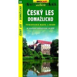 SC 31. Cesky les, Domazlicko turista térkép Shocart 1:50 000