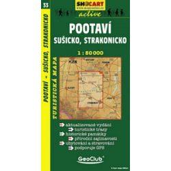 SC 33. Pootavi, Susicko, Strakonicko turista térkép Shocart 1:50 000
