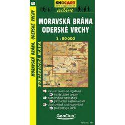 SC 68. Moravska brana, Oderske vrchy turista térkép Shocart 1:50 000