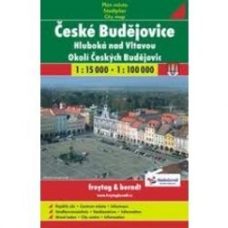 Ceske Budejovice térkép Shocart 1:15 000,1:100 000