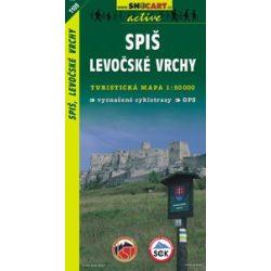 SHC 1109. SPIS-LEVOCSKÉ VRCHY / SZEPES-SÁROSI-Hegyvidék-LŐCSEI Hegység TURISTA térkép