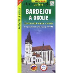 SHC 1113. BARDEJOV A OKOLIE / BÁRTFA KÖRNYÉKE TURISTA TÉRKÉP, Bártfa térkép