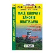 SC 224. Malé Karpaty, Záhorie, Bratislava turista térkép Shocart 1:100 000