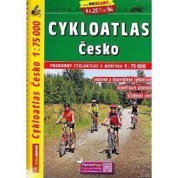 Csehország kerékpáros térkép Shocart 1:75 000  2017