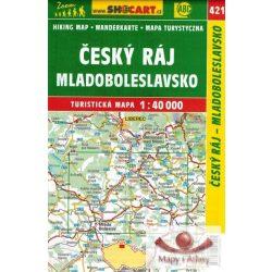 SC 421. Cseh Paradicsom, Cesky raj, Mladoboleslavsko turista térkép Shocart 1:40 000