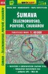 SC 434. Sumava turista térkép, Šumava térkép - Železnorudsko - Povydri - Churánov turistatérkép Shocart 1:SC 40 000  2017