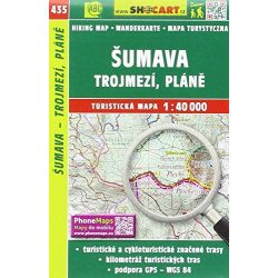 SC 435. Sumava térkép, Trojmezi turista térkép Shocart 1:SC 40 000  2017