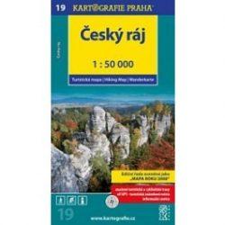 19. Cseh Paradicsom turista térkép, Cesky raj térkép Kartografie Praha 1:50 000