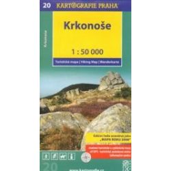 20. Krkonose turista térkép, Cseh óriáshegység térkép Kartografie Praha 1:50 000