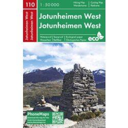 Jotunheimen térkép Norvégia Jotunheimen West  PhoneMaps  2019 1:50 000