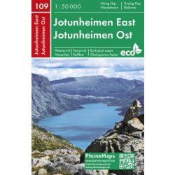 Jotunheimen térkép Norvégia Jotunheimen East PhoneMaps  2019 1:50 000