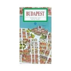 Budapest térkép, látványtérkép, Budapest panorámatérkép német nyelven