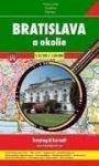 Pozsony térkép, atlasz spirálkötésben, Pozsony és környéke 1:12 500, 1:50 000 Freytag