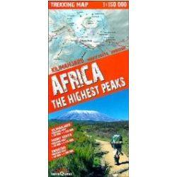 Afrika legmagasabb pontjai trekking térkép (Expressmap) 1:50 000 2012