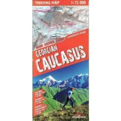 Grúzia térkép, Grúz Kaukázus trekking térkép Expressmap fóliás 1:75 0000