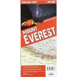 Mount Everest térkép, Mount Everest trekking map TerraQuest laminált 1:80e