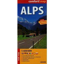 Alpok térkép Expressmap fóliás
