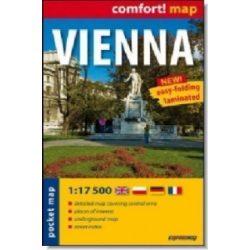 Bécs zsebtérkép ExpressMap Comfort 1:17 500  2011