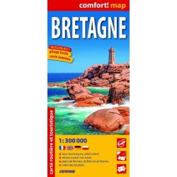 Bretagne térkép Expressmap fóliás 1:300 000