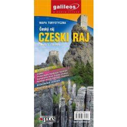 Cseh paradicsom térkép, Cesky Raj turista térkép 1:50 000 Plan 2015