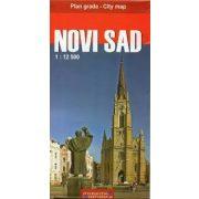 Novi Sad térkép, Újvidék térkép 1:12 500, Vajdaság térkép Intersistem 1:450 000