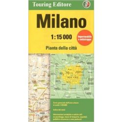 Milánó térkép Touring Club Italiano 1:15 000
