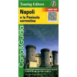 Nápoly és környéke térkép, Penisula, Sorrentina  Touring Club Italiano 1:175 000