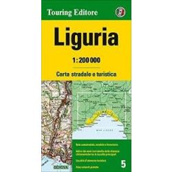 Liguria térkép Touring Club Italiano 1:200 000