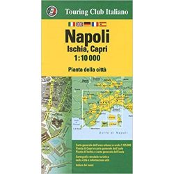 Nápoly térkép Touring Club Italiano 1:10 000