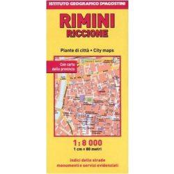 Rimini térkép DeAg  1:8 000
