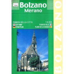 Bozen térkép LAC Italy  1:8 000 Bolzano térkép, Merano 1991