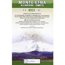 Monte Etna térkép LAC Italy  1:50 000