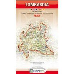 Lombardia térkép LAC Italy  1:250 000