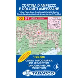 03. Cortina d Ampezzo turista térkép Tabacco 1: 25 000  Tab 2503