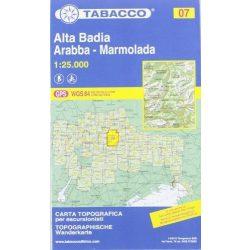 07. Alta Badia - Fànes - Sella - Pútia, Peitlerkofel turista térkép Tabacco 1: 25 000