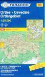 08. Gruppo Ortles - Cevedale, Ortlergruppe turista térkép Tabacco 1: 25 000