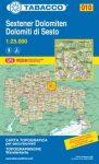 010. Dolomiti di Sesto, Sextener Dolomiten turista térkép Tabacco 1: 25 000
