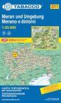 011. Merano e dintorni, Meran und Umgebung turista térkép Tabacco 1: 25 000
