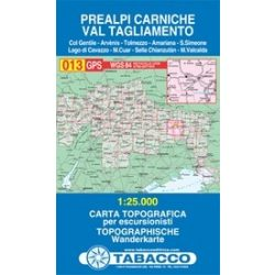013. Prealpi Carniche - Val Tagliamento turista térkép Tabacco 1: 25 000