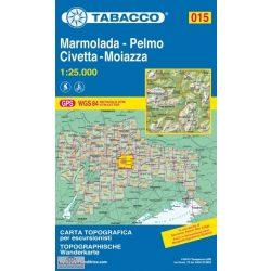015. Marmolada - Pelmo - Civetta - Moiazza turista térkép Tabacco 1: 25 000