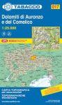 017. Dolomiti di Auronzo e del Comelico turista térkép Tabacco 1: 25 000
