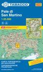 022. Pale di San Martino turista térkép Tabacco 1: 25 000