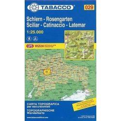 029. Sciliar - Catinaccio - Latemar - Schlern - Rosengarten turista térkép Tabacco 1: 25 000