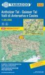 032. Val Anterselva - Val Casies, Antholz - Gsies turista térkép Tabacco 1: 25 000