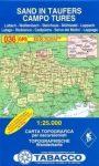 036. Campo Tures turista térkép Tabacco 1: 25 000