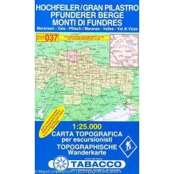 037. Gran Pilistro, Monti di Fundres turista térkép Tabacco 1: 25 000