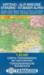 038. Vipiteno - Alpi Breonie, Sterzing - Stubaier Alpen turista térkép Tabacco 1: 25 000