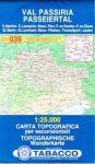 039. Val Passiria turista térkép Tabacco 1: 25 000