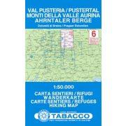 6.  PUSTERTAL - AHRNTALER BERGE / VAL PUSTERIA - MONTI DELLA VALLE AURINA turista térkép Tabacco 1: 50 000
