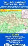 041. Valli del Natisone - Cividale del Friuli turista térkép Tabacco 1: 25 000